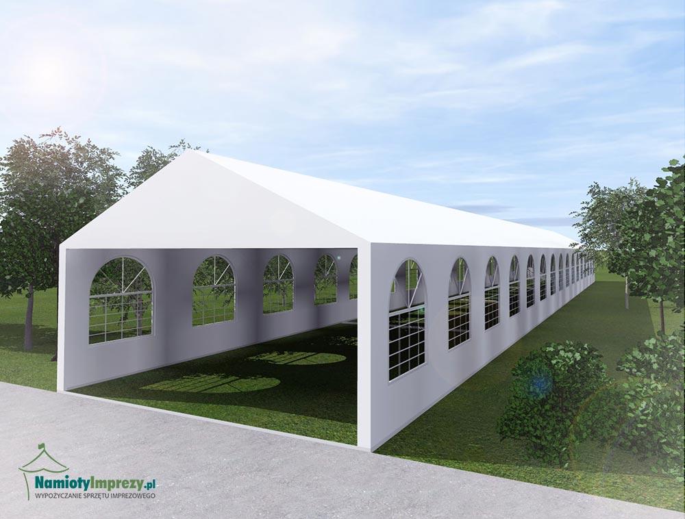 Namiot 4 szt. Wymiary: 5m x 8m - wzdłuż - 5m / wypożyczalnia Szczecin