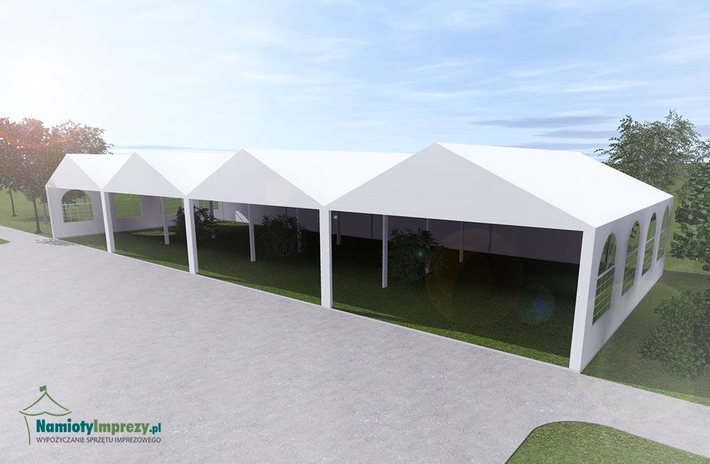 Namiot 4 szt / 5m x 8m - wzdłuż - 8m / wypożyczalnia Szczecin