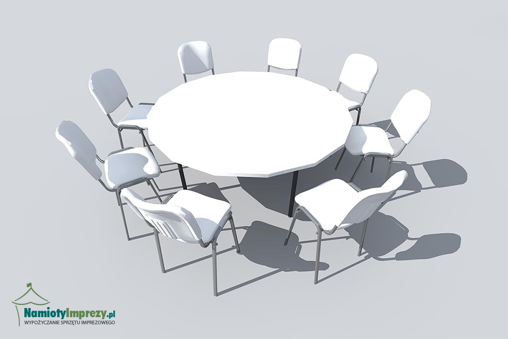 Stół okrągły - wypożyczalnia Namioty i Imprezy