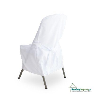 koszulka na krzesło biała